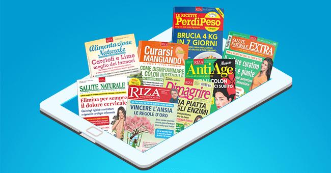 Tutte le riviste di Riza sono anche digitali!