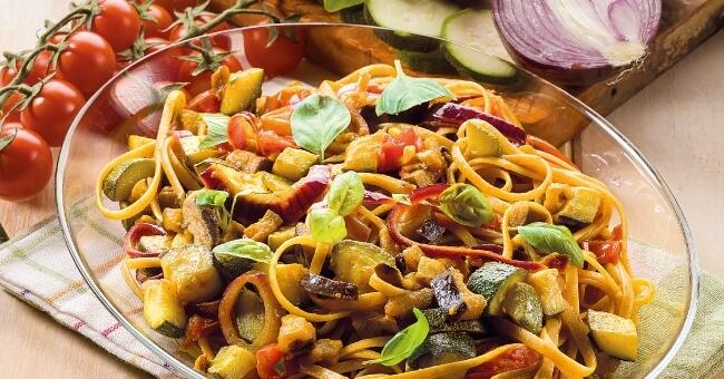 Bavette con verdure al curry