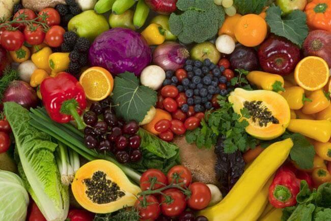 Frutta e verdura per un cuore in forma