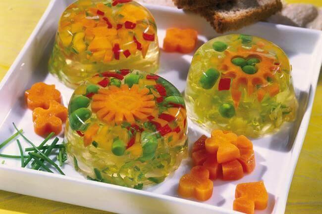 Ricette: aspic di verdure e agar agar