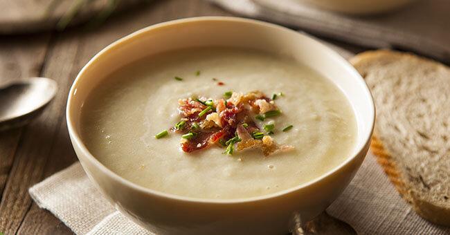 Zuppa di patate alla liquirizia