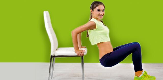 Chair Gym, allenamento ideale per braccia, gambe e glutei