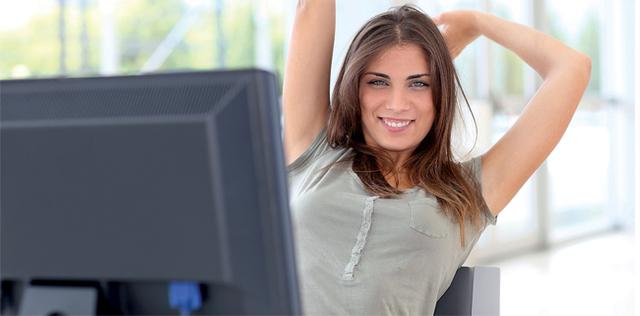 Ginnastica in ufficio: facile e fa dimagrire