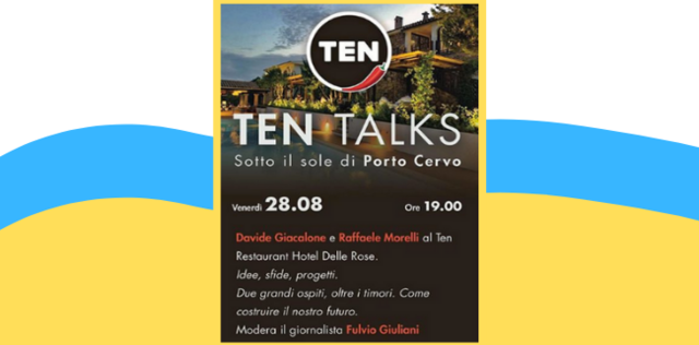 Raffaele Morelli a Porto Cervo per 'Ten Talks'