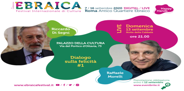 Raffaele Morelli ospite di Ebraica 2020